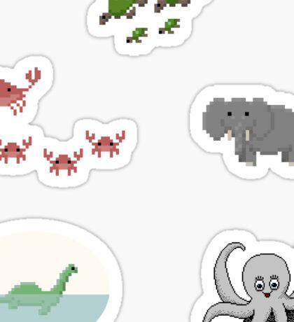 Pixel Critters Sticker