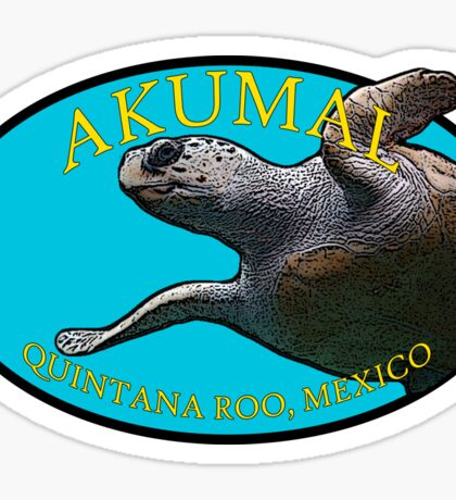 Akumal - Quintana Roo, Mexico - Turtle Sticker