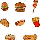 Pixel Junk Food Stickers 1 by siins