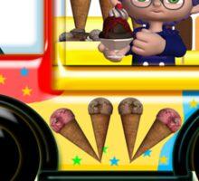 Here Come's Summer Ice Cream Truck T Sticker