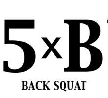 Back Squat - 1.5 x BW Sticker