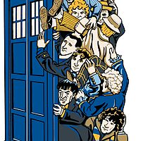 Who's Who - All 11 Doctor Whos - Sticker by ianleino