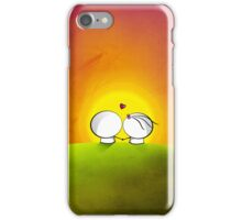 Looking at the sunset iPhone Case/Skin