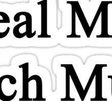 Real Men Teach Music  Sticker