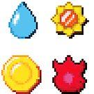 8 bit Pokemon Badges by salodelyma