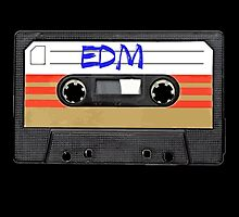 EDM - Electronic Dance Music cassette tape by RestlessSoul