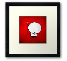 Sad boy with broken heart Framed Print