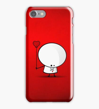 Sad boy with broken heart iPhone Case/Skin