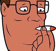 Hank Hill Smoking Weed by killrart