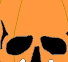 Pumpkin Skull Sticker
