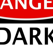 DANGER DARK MATTER, FUNNY FAKE SAFETY SIGN Sticker