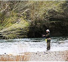 Flyfishing The Walker River Photographic Print