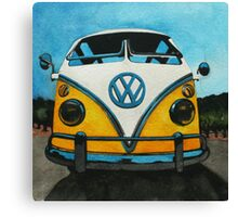 Wee Yellow Camper Canvas Print