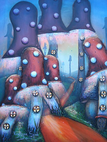 Mushroom Skyscrapers by Krystyna Spink