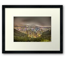 hong kong island Framed Print