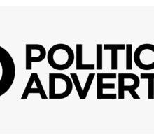 No Political Advertising Letterbox Sticker Sticker