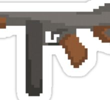 Pixel Thompson Gun Sticker