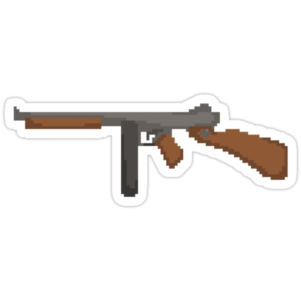 Pixel Thompson Gun by George Barwick