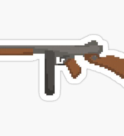 Pixel Thompson Gun Sticker