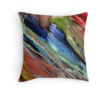 Go With The Flow ~ Alcohol Ink Design Throw Pillow