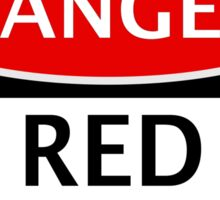 DANGER RED RAIN FAKE ELEMENT FUNNY SAFETY SIGN SIGNAGE Sticker