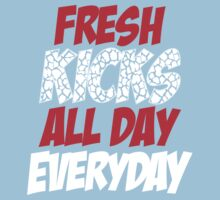 Fresh Kicks All day Everyday One Piece - Short Sleeve