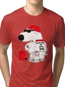 Beware of dog Tri-blend T-Shirt
