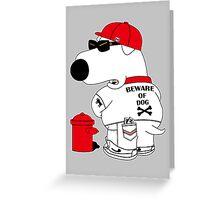 Beware of dog Greeting Card