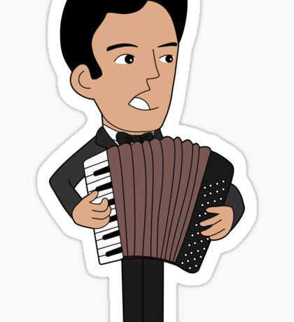 Cartoon accordion player Sticker