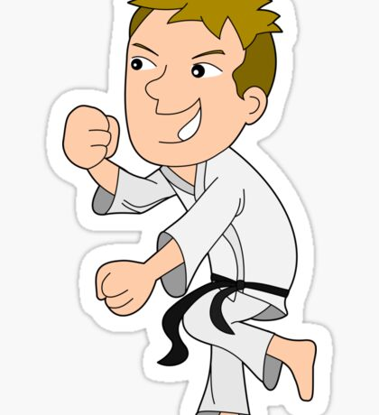 Karate kid cartoon Sticker
