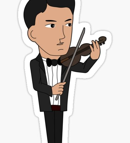 Cartoon violinist Sticker