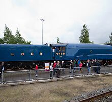 Number 4468 Mallard at the National Railway Museum York by Keith Larby