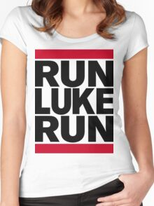 RUN LUKE RUN (Black font) Women's Fitted Scoop T-Shirt