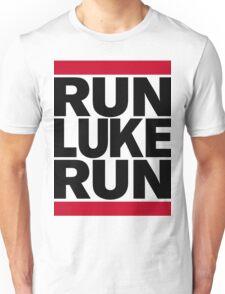 RUN LUKE RUN (Black font) Unisex T-Shirt