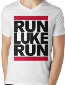 RUN LUKE RUN (Black font) Mens V-Neck T-Shirt