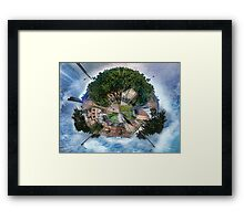 The Big Tree, The Little Planet. Framed Print