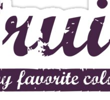 Bruise is my favorite color Decal v4 Sticker