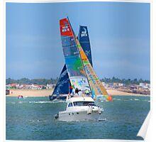 3 boats.Tejo river race. 8June2012. Lisbon Poster