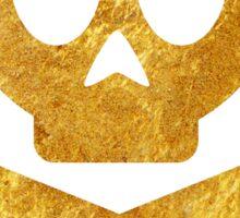 Poison Skull and Cross Bones ( GOLD ) Sticker