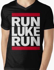 RUN LUKE RUN (White font) Mens V-Neck T-Shirt