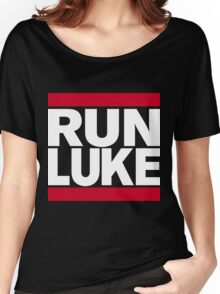 RUN LUKE (White font) Women's Relaxed Fit T-Shirt