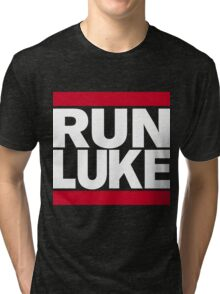 RUN LUKE (White font) Tri-blend T-Shirt