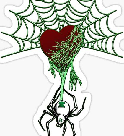 Black Widow (Green) Sticker