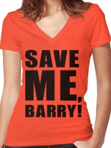 Save Me, Barry! Women's Fitted V-Neck T-Shirt