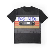 80s MIX - Music Cassete Tape Graphic T-Shirt