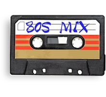 80s MIX - Music Cassete Tape Canvas Print