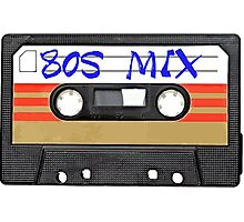80s MIX - Music Cassete Tape Photographic Print