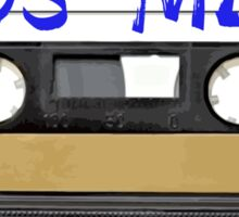 80s MIX - Music Cassete Tape Sticker