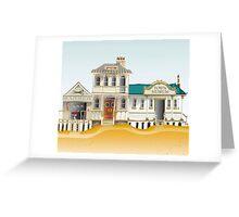 Australian Town Buildings Greeting Card