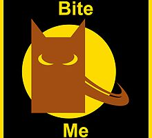Bite Me (Square Sticker & Throw Pillow) by Kellyanne